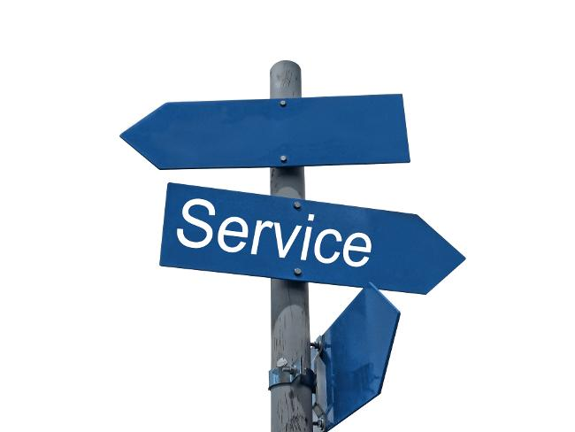 "Signpost with text ""service"" (Source: Pixabay)"